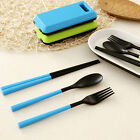 Popular Travel Picnic Portable Tableware Eco-friendly ABS Spoon Fork Storage Box