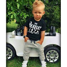 2PCS new baby boy's short sleeve T-shirt +Leisure trousers Outfits fit 2-6Y