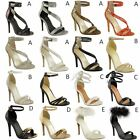 NEW WOMENS LADIES HIGH HEEL PARTY SANDALS STILETTO STRAPPY PROM SHOES SIZE