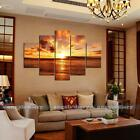 5pc set Large Seaside Sunset Unframed HD Canvas Print Wall Art Picture Poster #2