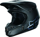 NEW FOX RACING V1 MOTOCROSS MX DIRTBIKE HELMET MATTE BLACK SIZE SMALL S