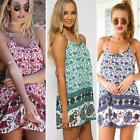Sexy Women Summer Casual Elephant Print Cocktail Party Evening Beach Mini Dress