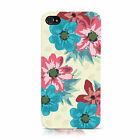 DYEFOR FLOWER PRINT FLORAL PATTERN MOBILE PHONE CASE COVER FOR APPLE iPHONE 4 4S