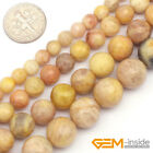 "Yellow Sun Stone Gemstone Faceted Round Beads Strand 15"" 6mm 8mm 10mm 12mm"