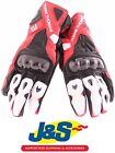 FRANK THOMAS FT2 LEATHER MOTORCYCLE GLOVES MOTORBIKE GLOVE RACING RACE RED J&S