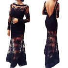 Backless Sexy Women Formal Evening Party Cocktail Ball Prom Gown Maxi Long Dress