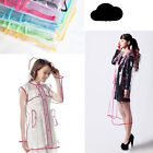 Transparent Clear Pvc Rain Coat Women Girls Ladies Raincoat Festival Camping New