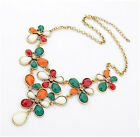 New Lovely Geometric Resin Crystal Chain Bib Collar Statment Necklace Pendant
