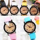 New Women's Girls' Fuax Leather Strap Round Dial Quartz Wrist Watch 7 Colors