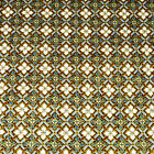 Metallic Gold Gray Teal and Ivory, Oriental Traditions Cotton Fabric by Kaufman
