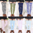 New Womens Striped Thigh High Cotton Socks Sexy Girls Over The Knee Stockings