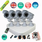 4CH 960H DVR 1200TVL DOME CCTV HOME SECURITY KIT NIGHT VISION MOBILE ECLOUD VIEW