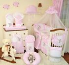 Huge bedding sets 9, 11 or 21 Piece Baby Nursery Bedding Set To Fit Cot   Cot Bed