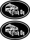 2 FISHING HUNTING vinyl decals stickers ... BASS WALLEYE TROUT CATFISH LURES