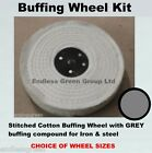 1st stage Iron & Steel Polishing Kit - Stitched Cotton Buffing Wheel & Grey Bar