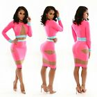 Womens Sexy Hollow Mesh Bandage Bodycon Cocktail Clubwear Evening Party Dress