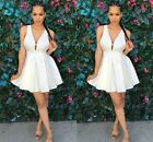 2015 Women Sexy Deep V-Neck Sleeveless Cocktail Clubwear Party Mini Summer Dress