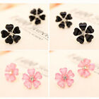 New Fashion Women's silver plated Flower Type Ear Stud Earrings Party Cro