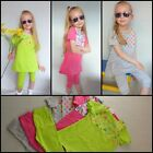 Girls Top & Cropped Leggings Pants Summer Baby Age 6-24 Mths 3 4 5 6 7 8 9 Years