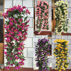 1 Bunches Artificial Lily Flowers Vine Garland Home Window Wedding Decoration