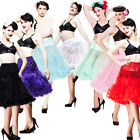 Hell Bunny 65cm Long Petticoat Rockabilly Swing Pettiskirt Tulle Slip 50s Retro