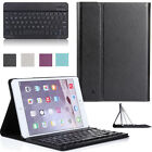For Apple iPad mini 1 2 3 Leather Stand Case with Removable Bluetooth Keyboard