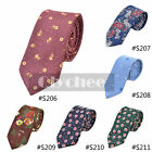 Men's Fashion Cotton Floral Tie Neck Tie Wedding Necktie Narrow Skinny Classic