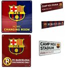BARCELONA METAL SIGNS (Metal Door Sign, Street Sign)Official Club Merchandise