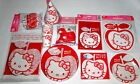 Hello Kitty Apple Partyset Teller Becher Servietten Rüssel Girlande Taschen NEU
