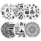 Born Pretty Nail Stamping Plates Nail Art Image Stamp Template Flower Geometry
