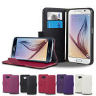 FLIP LEATHER WALLET CASE COVER STAND For SAMSUNG GALAXY S6 FREE SCREEN PROTECTOR
