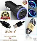 NEW SAMSUNG CABLE FOR GALAXY S6 S3 S4 S5 MINI NOTE 4 + DOUBLE USB IN CAR CHARGER