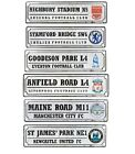 OFFICIAL FOOTBALL  CLUB RETRO LOGO WINDOW SIGNS (metal sign)Official Merchandise