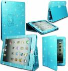 BLING SPARKLE PU LEATHER FLIP BOOK CASE COVER FOR APPLE IPAD MINI