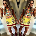 New Women Summer Sexy Floral Casual Party Cocktail Short Mini Dress Sundress