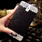 Bling Crystal Aluminum Diamond Back Case Cover For Samsung Galaxy S4 S5 Note3 4