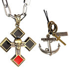 Retro Mens Necklace Skull Cross Necklace Pendants Statement Necklace Chain Gifts