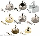 Deluxe Light Pull Ceiling Switch & Chain 2 Way Decorative Chrome Brass Bathroom