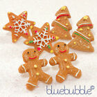 FUNKY GINGERBREAD EARRINGS CUTE SWEET TREAT RETRO KITSCH KAWAII FESTIVE FUN FOOD