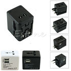 Universal World Wide Multi AC Mains Travel Plug Charger Adapter with USB Port