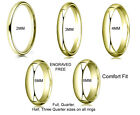14K Yellow Gold Comfort Fit Wedding Band Ring 2mm 3mm 4mm 5mm 6mm Free Engraving
