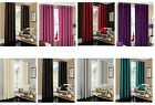 RING TOP FULLY LINED PAIR EYELET CURTAIN& CUSHION COVERS FOR BEDROOM DINING ROOM