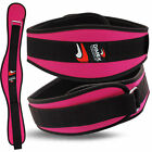 Weight Lifting Neoprene Belt Gym Fitness Exercise Back Support Ladies Workout