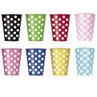 Polka Dots - 6 Paper CUPS {354.9ml} Spots Spotty Birthday Party Supplies