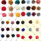 Men's Lapel Flower Daisy Rose Color Handmade Boutonniere Stick Brooch Pin
