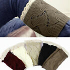 Lady Crochet Knitted Trim Boot Cuffs Toppers Liner Leg Warmers 2014 5 Colours