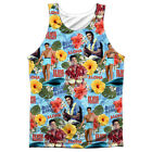 Elvis Presley Surfs Up Sublimation Poly Adult Tank Top S-3XL