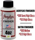 1 Angelus Paint Acrylic Leather Finisher Finish Satin Semi-Gloss High Gloss 4oz