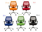 Mid-Back Home/Office Task Computer Mesh Chair with fixed arms Metro