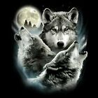 NEU Fantasy Biker Gothic Chopper T-Shirt Wolf Wölfe Three Wolves S - 6XL